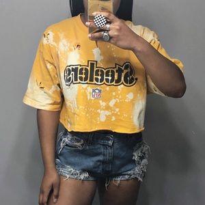 NFL Vintage Reebok Steelers Bleach Splatter Top